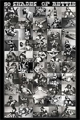 (LAMINATED) BETTIE PAGE PINUP POSTER (61x91cm) 50 SHADES OF PICTURE PRINT NEW