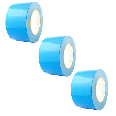 1, 2 OR 3 BIG WIDE LONG Blue Gaffer Gaffa Duck Duct Cloth Tape 72mm x 50m