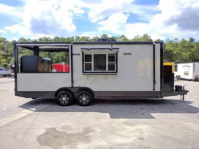 22' BBQ  Concession Trailer – With Smoker Pit Installed