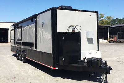 8.5X28 Food Trailer Loaded with BBQ Porch-Concession Trailers- BBQ Trailer