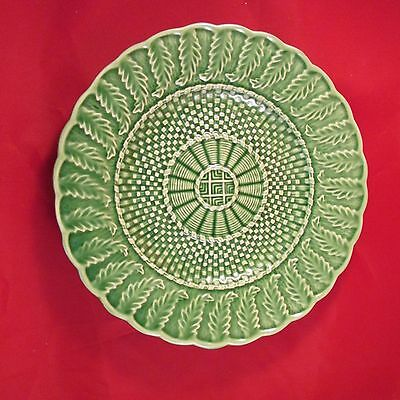"GREEN PLATE MADE IN PORTUGAL BARDALLO PINHEIRO  8 1/4"" LUNCHEON"