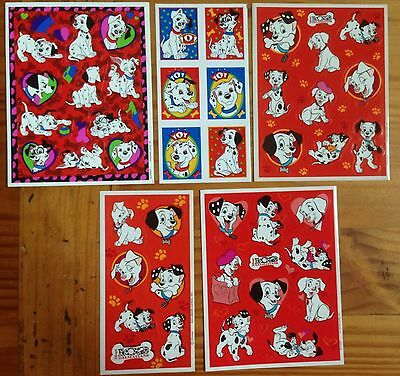 5 Sheets DISNEY 101 102 Dalmatians DOG Puppy Stickers!