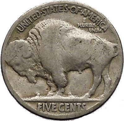1925 BUFFALO NICKEL 5 Cents of United States of America USA Antique Coin i43674