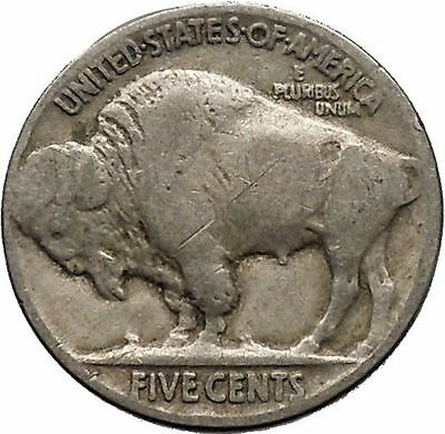 1926 BUFFALO NICKEL 5 Cents of United States of America USA Antique Coin i43677