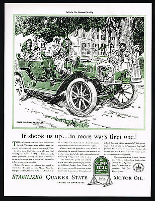 1941 James Montgomery Flagg Art Vintage Car Quaker State Oil Vintage Ad