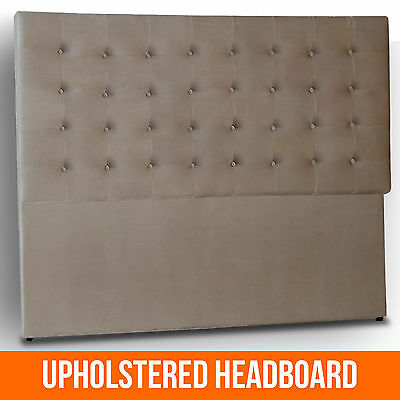 NEW King Queen Padded Upholstered Panel Chesterfield Button Headboard Bedhead