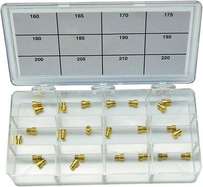 EBC Main Jet Assortment Dealer Kit High Precision Brass Keihin CV HDJK12 42-8148