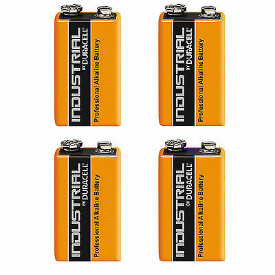 4 DURACELL INDUSTRIAL 9v PP3 MN1604 6LR61 ALKALINE BATTERIES PROCELL RELACEMENT