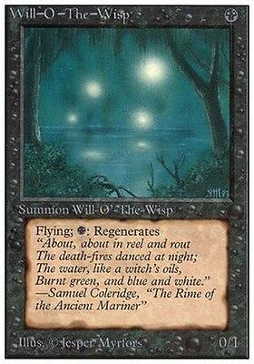 Will-O'-The-Wisp MTG MAGIC Unlimited English EXC-NM