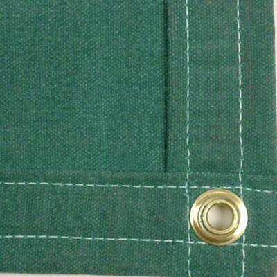 Sigman 10' x 10' Heavy Duty Cotton Canvas Tarp 18 OZ - Green - Made in USA - New