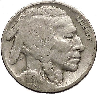 1928 BUFFALO NICKEL 5 Cents of United States of America USA Antique Coin i43712