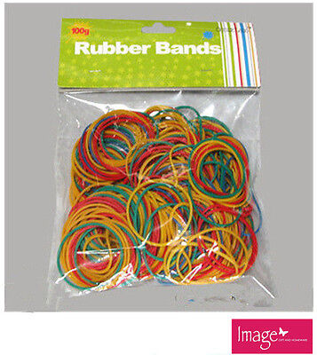100g Multi Color Office Package Bag Bundle Rubber Bands Rings Band TOM-S709