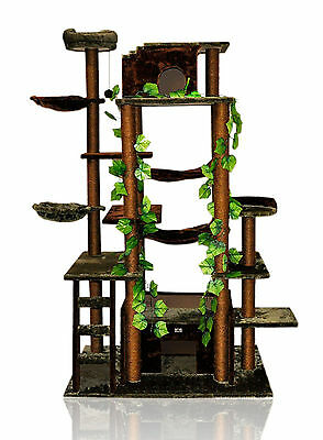 78' High Cat TreeTower Kitty Play House big brown green Furniture Scratch Post 4