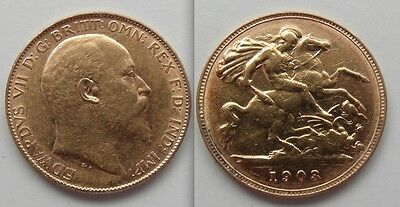 Nice Collectable Gold Half Sovereign 1903 coin - Edward VII ... George / Dragon