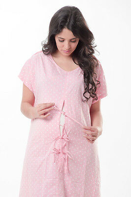 Hospital Maternity Delivery/Birthing/Laboring Gown (fetal monitoring/IV access)