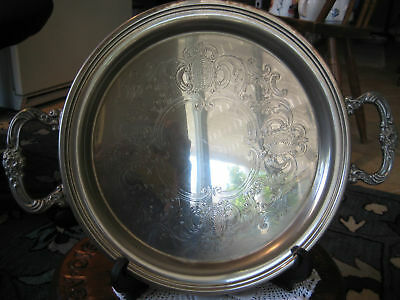 OLD VINTAGE SHERIDAN TAUNTON SILVERSMITHS TRAY W/HANDLE