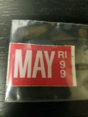 1999 99 May Rhode Island Ri License Plate Sticker Only Nice --- Other Years Avai