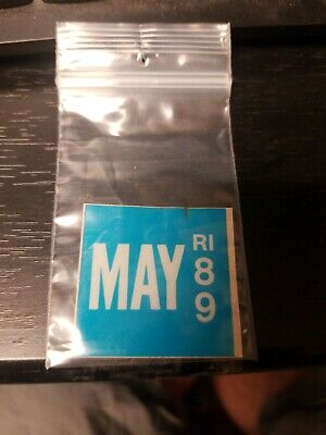 1989 89 May Rhode Island Ri License Plate Sticker Only Nice --- Other Years Avai