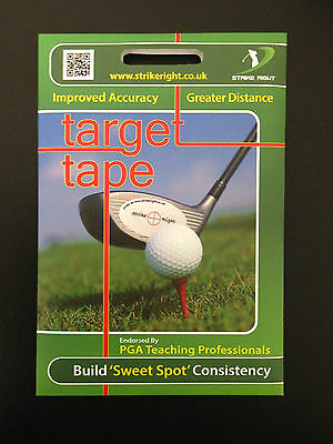Strike Right Impact Sticker Labels Golf Accessory Irons Putter Wood Sweet Spot