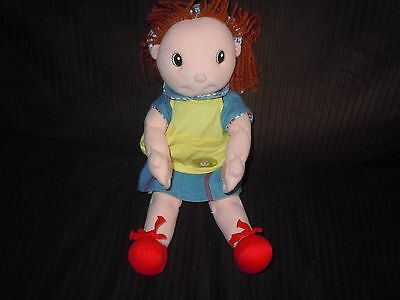 "Zapf 16"" Maggie Raggies Magnetic Hands Lovey Baby Doll Bib Underpants Red Shoes"