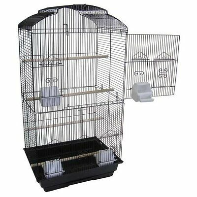 Canary Parakeet Cockatiel LoveBird Finch Cages Bird Cage 6803 Black-125