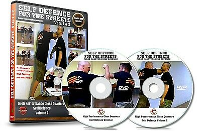 Self Defence DVDs Double DVD Case Street Fighting Close Up Defense Vol 1 & 2