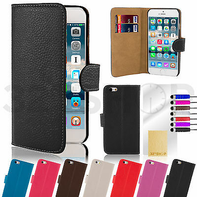 Wallet GENUINE LEATHER CASE COVER FOR Apple iPhone 6 4.7  & Plus 5.5 inch Film