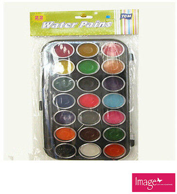 Watercolour Paints Multicolour Pack of 22 School Home Drawing Art Craft TOM-P504