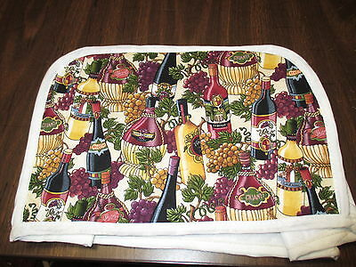 Grapes And Wine 2 Slice Toaster Cover, New