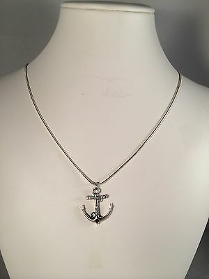 New! Love Anchor Nautical On Silver Chain, Gift, Necklace