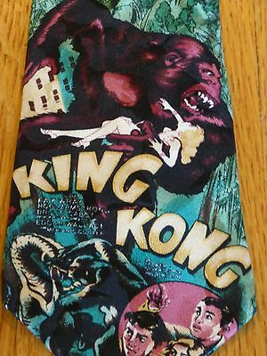 Vintage King Kong Neck Tie 1992 100% Silk American Film Classics Made in USA EUC