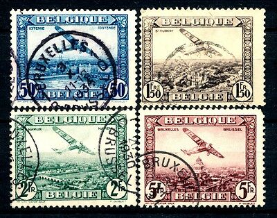 "No: 37522 - BELGIUM (1930) -  ""AIR MAIL"" - AN OLD COMPLETE SET - USED!!"