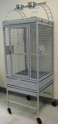 Parrot Bird Wrought Iron Cage 22x22x60 Play-Top 0639-829