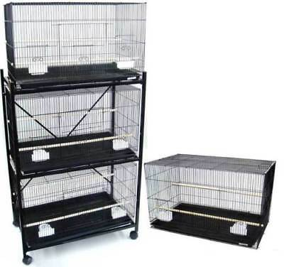 Lot of 4 Bird Breeding Cages 30x18x18 With Stand 2473-810