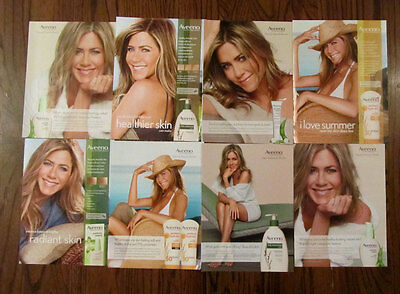 Jennifer Aniston 8 Aveeno ad clippings