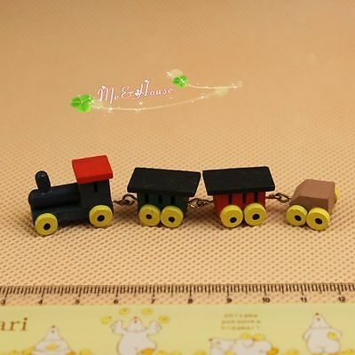 1/12 Dollhouse Miniature Toy baby room ornament colorful train set
