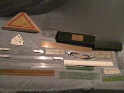 Vintage Drafting scales and more (18) piece set