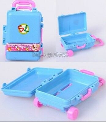 Delicate  Blue Bars Box Toys Suitcases Toys Box Accessories