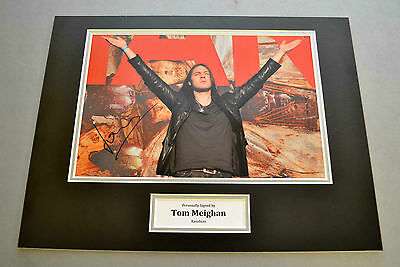 Tom Meighan Signed 12x16 Photo Display Kasabian Memorabilia Autograph + COA