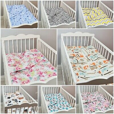 mega sale! 2 pc BEDDING SET BABY BED for COT 120x60 cm PILLOW CASE + DUVET COVER