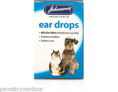 Dog cat Johnsons ear drops treatment solution 15ml