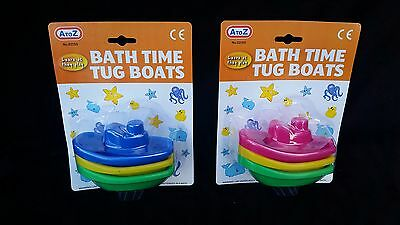 Pack of 3 Baby & Toddler Bath Boats Gift Toy for Bath Time 3 Months+ funtime