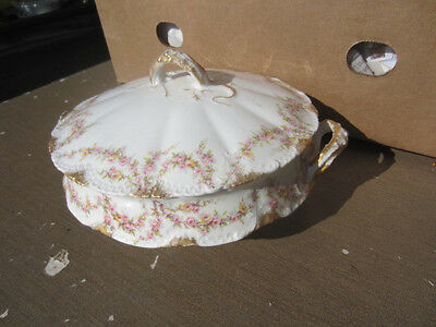 Theodore Haviland Limoges Schleiger 145 Round Covered Vegetable Serving Bowl