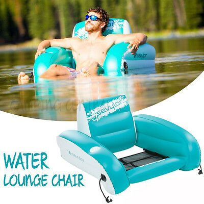 Sevylor Coleman Water Lounge Chair Inflatable Boat Pool Seat Lounger Floating