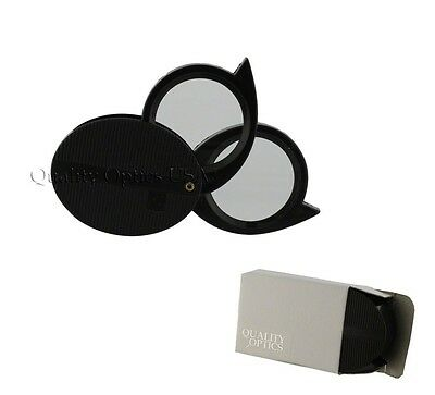 5X 10X Double 2 Lens Folding Magnifier Jewelers Pocket Loupe Magnifying Glass US