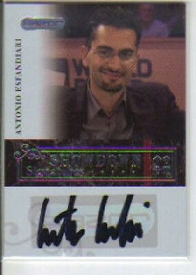 2006 Razor Poker Showdown Signatures  Antonio Esfandiari  Autograph