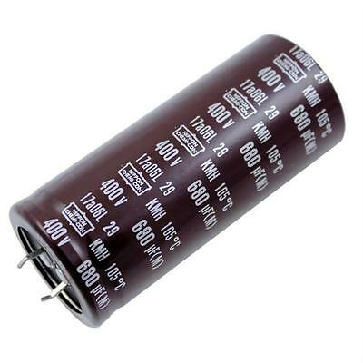 2x Snap-In Electrolytic Capacitor 680µF 400V 105°C ; KMH400VN681M35X80T2 ; 680uF