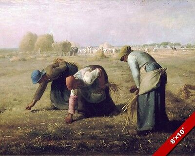 Gleaning Wheat In The Field Harvest Oil Painting Art Real Canvas Giclee Print