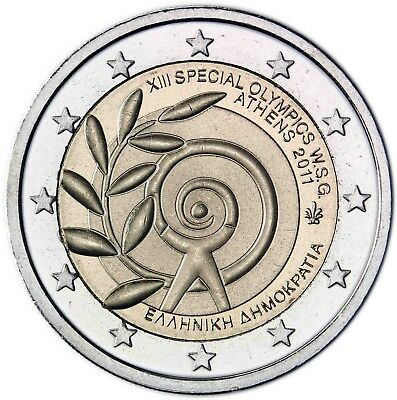 Griechenland 2 Euro 2011 bfr. Sommerspiele der Special Olympics in Athen