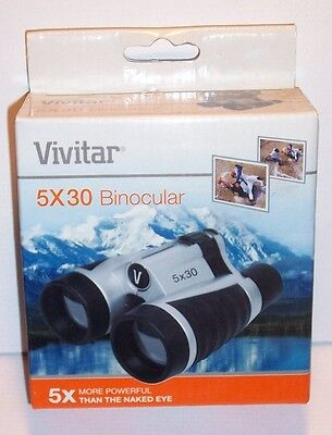 Vivitar CS-530 5x30 Binoculars with Carrying Case, Neck Strap & Cleaning Cloth